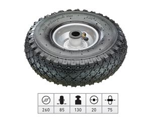 Spare pneumatic wheel with steel wheel rim