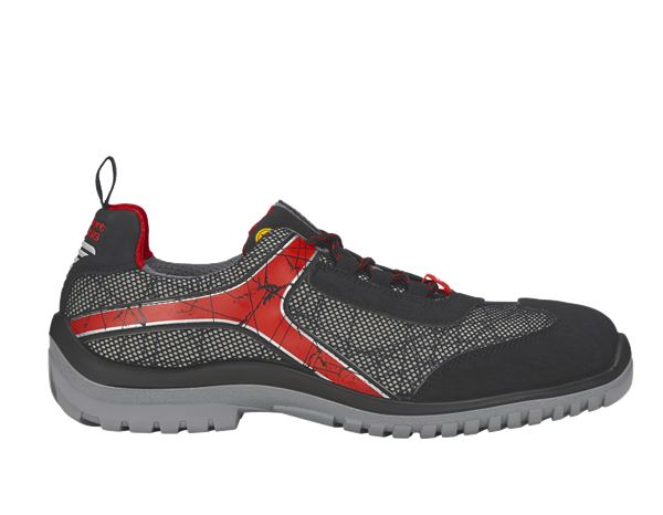 e.s. S1 Safety shoes Spider graphite/black/red