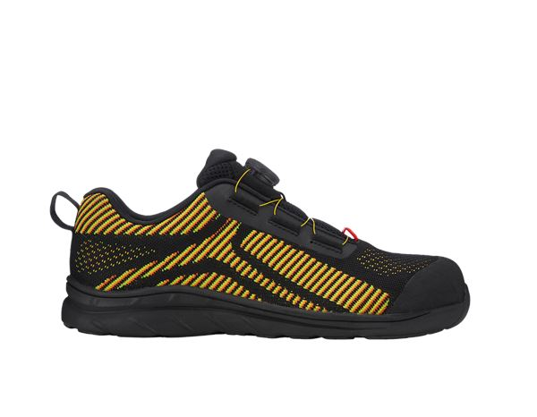 e.s. S1 Safety shoes Tegmen II low black/high-vis yellow/high-vis orange