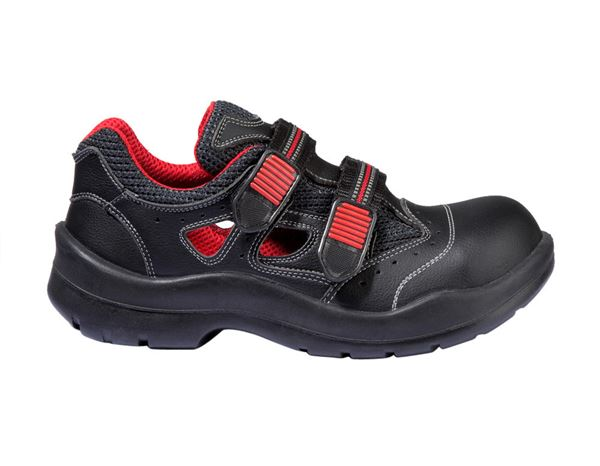 S1P Safety sandal Comfort12 black/red