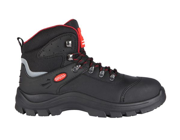S3 Safety boots David black/red