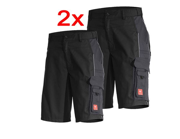 Combo-Set: 2x e.s. Shorts active black/anthracite