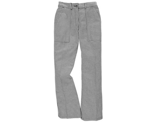 Women's chef trousers black/white