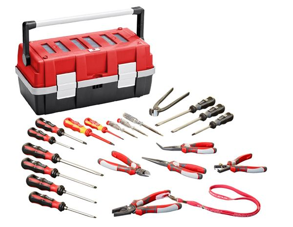 Power pliers + professional screwdriver set