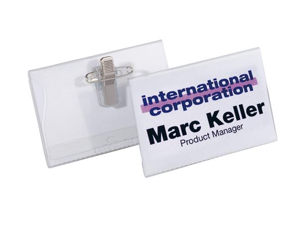 DURABLE Name Badges, Combination Clip