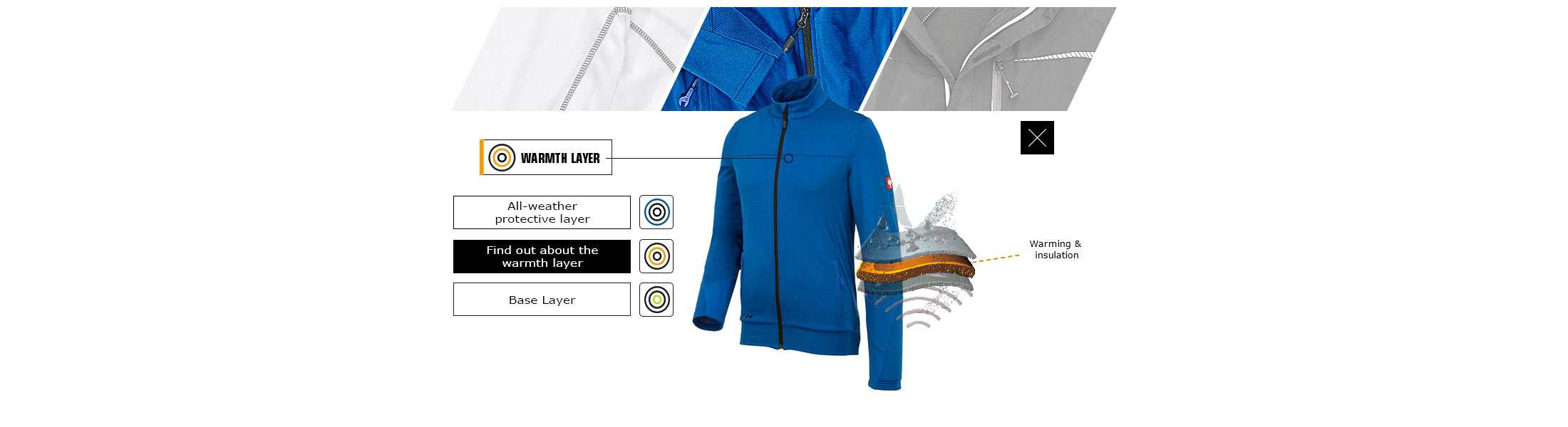 engelbert strauss warmth layer workwear prevents the body becoming cold