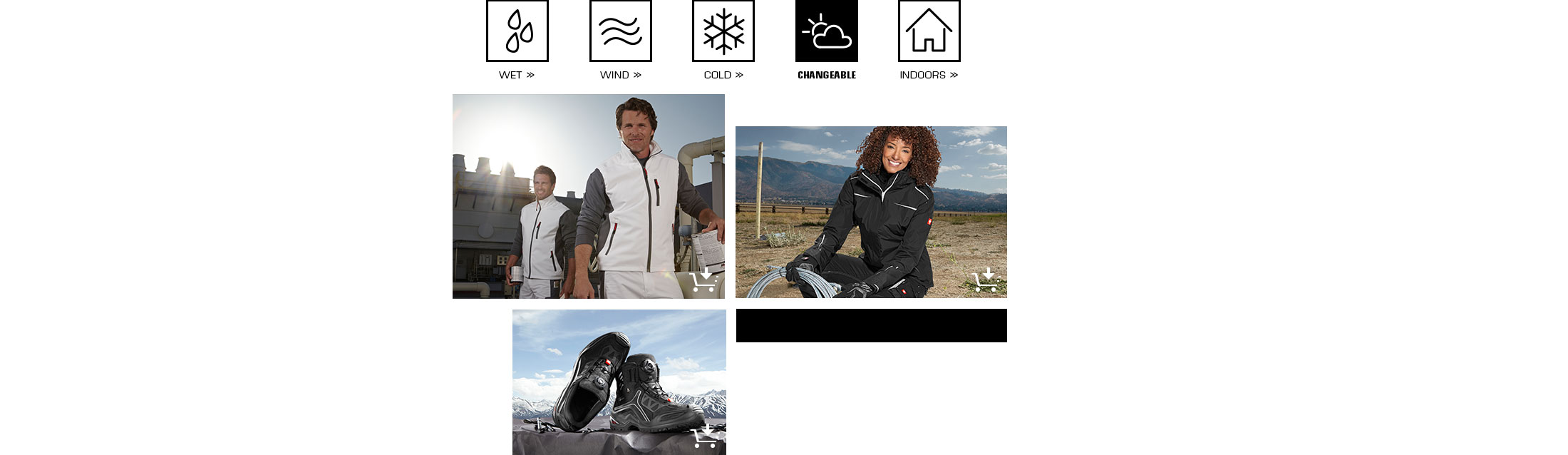engelbert strauss workwear protects in changeable weather conditions