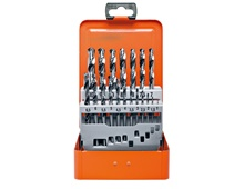 19 Piece HSS-TIN Drills