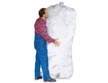 Polystyrene waste sacks