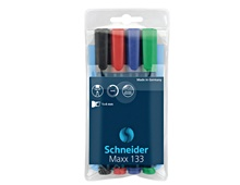 Schneider Permanent Marker 133, Assorted Pack of 4