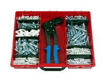Plasterboard assortment box, 362-part