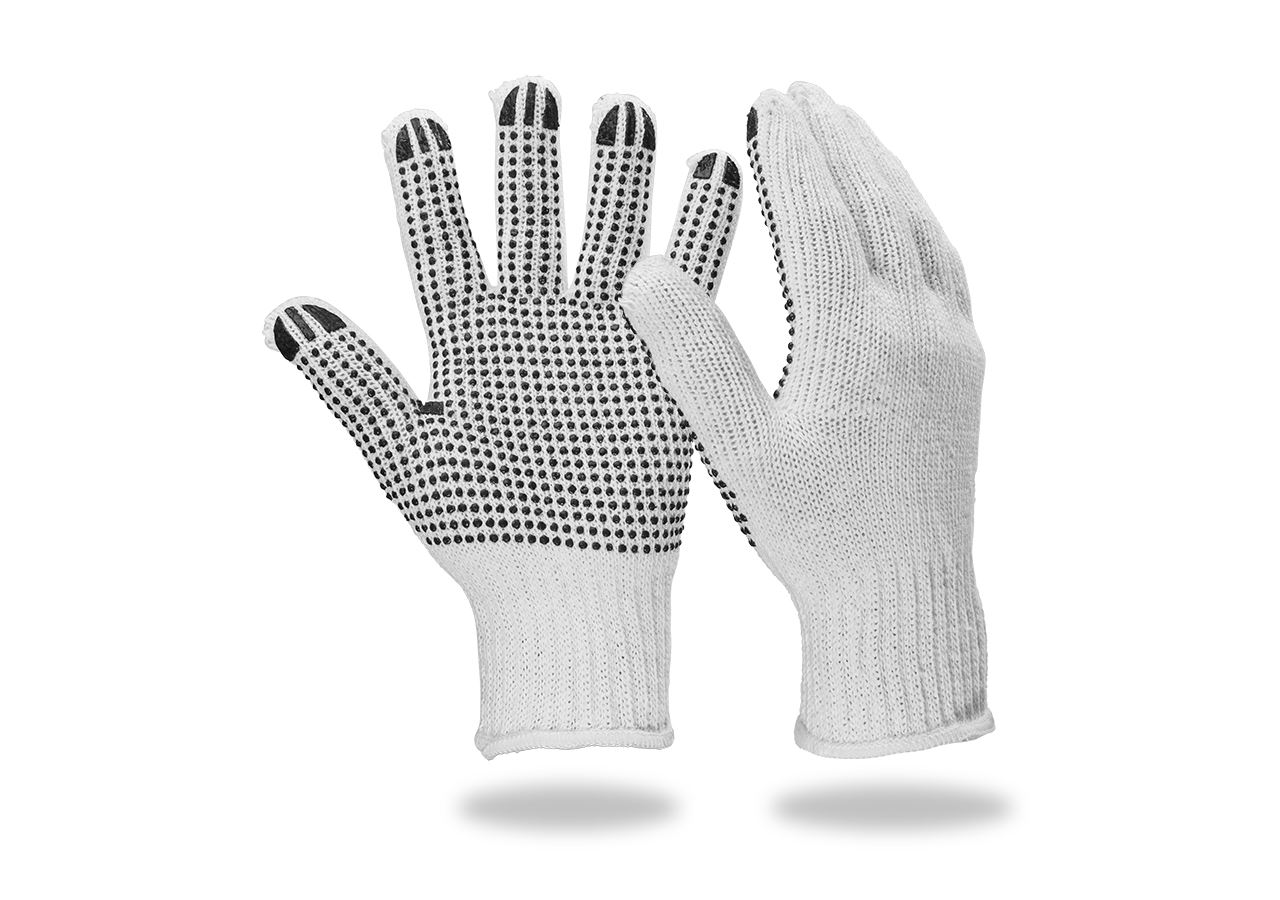 Coated: PVC knitted gloves Black-Point
