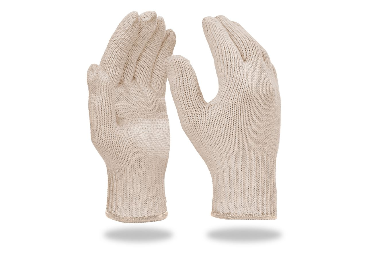 Textile: Knitted gloves, pack of 12 + white