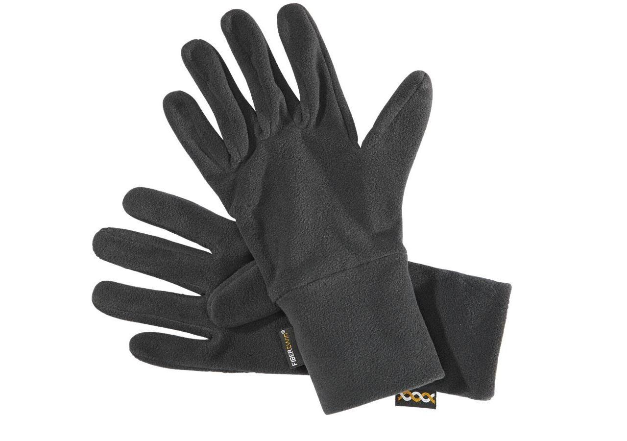 Accessories: e.s. FIBERTWIN® microfleece gloves + black
