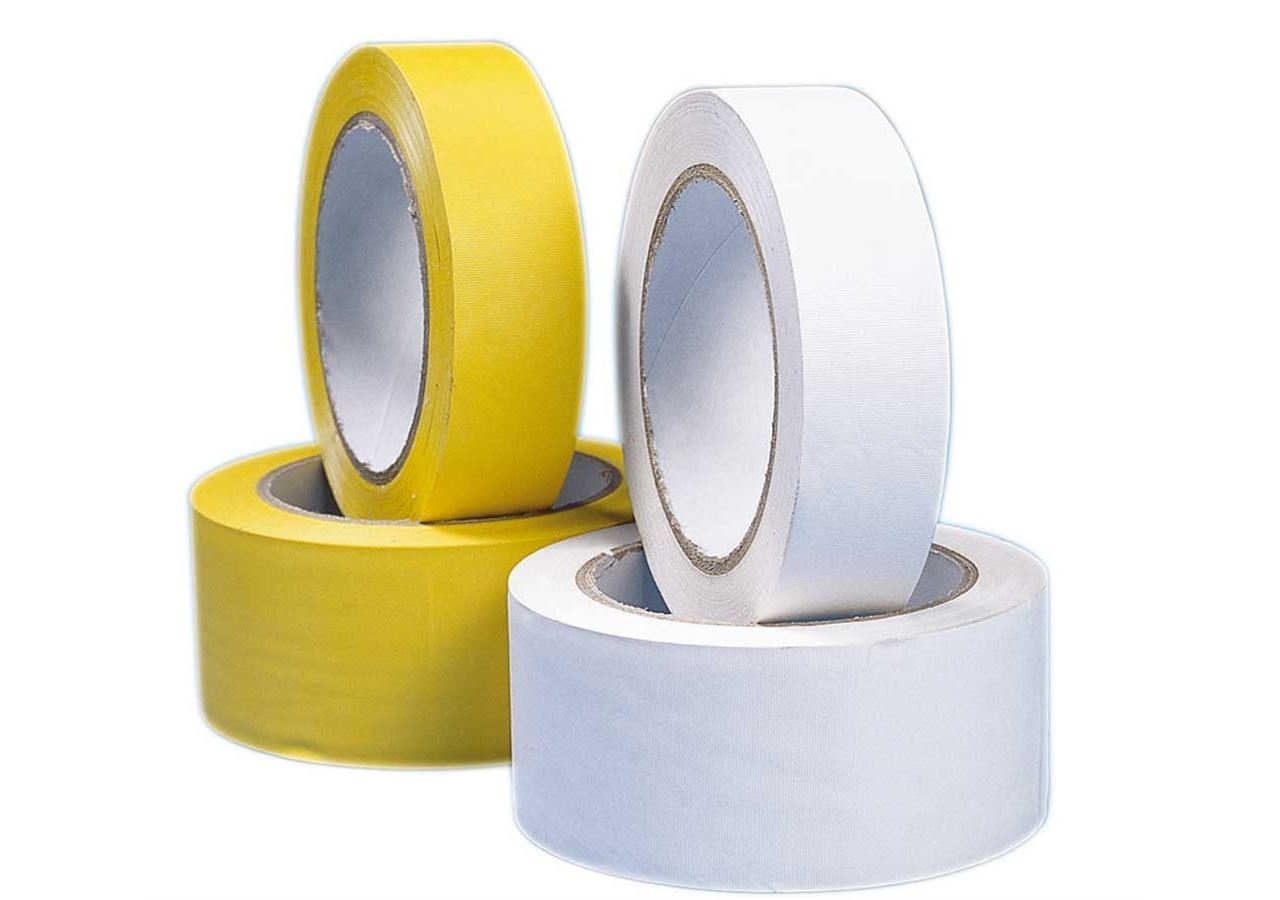Plastic bands | crepe bands: Plastic adhesive tape, yellow and white + white