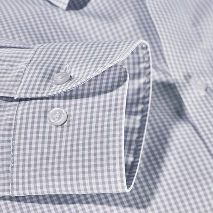 Shirts, Pullover & more: e.s. Business shirt cotton stretch, comfort fit + mistygrey checked 4