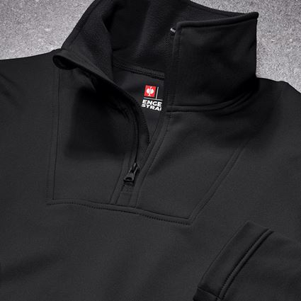 Shirts, Pullover & more: Functional-troyer thermo stretch e.s.concrete + black 2