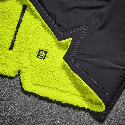 Work Jackets: e.s. Forestry faux fur jacket + high-vis yellow 2
