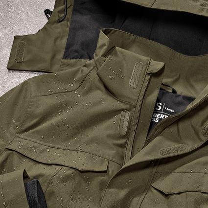Work Jackets: Rain jacket e.s.concrete, ladies' + mudgreen 2