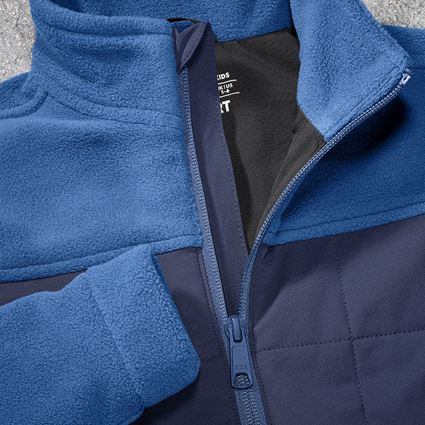Jackets: Hybrid fleece jacket e.s.concrete, children's + alkaliblue/deepblue 2