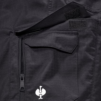 Work Trousers: Trousers e.s.concrete solid + black 2