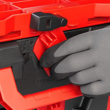 Tool Cases: STRAUSSbox hybrid adapter plate + red/black 2