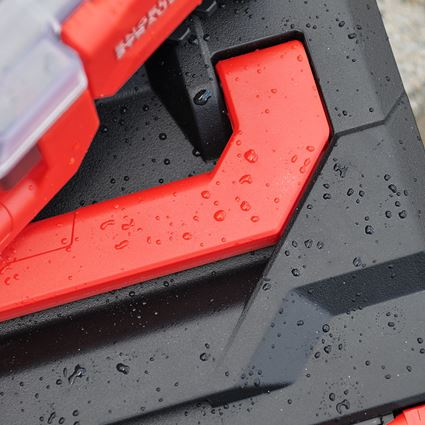 Tool Cases: STRAUSSbox 145 midi+ + black/red 2