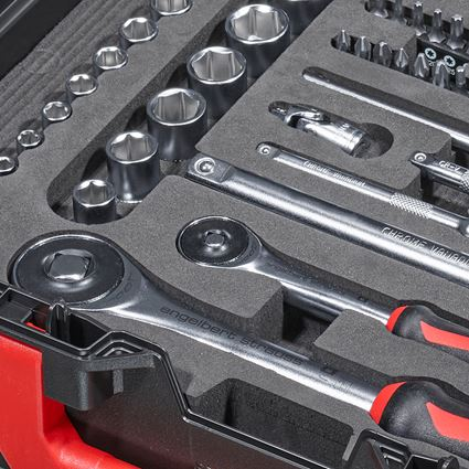 Tool Cases: Socket wrench set lockfix 1/4+1/2 in STRAUSSbox 2