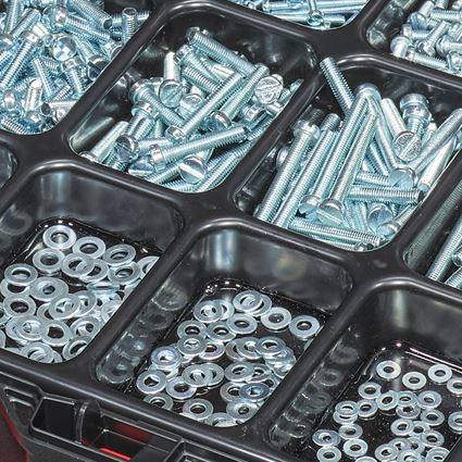 Screws: Threaded screws ISO 1207 in STRAUSSbox 118 midi 2