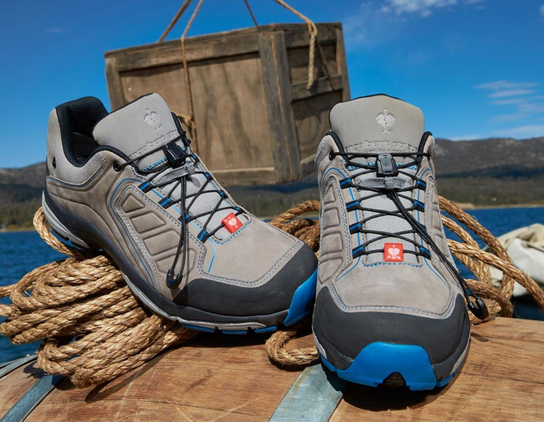 O2: e.s. O2 Work shoes Minkar Leder + ash/atoll