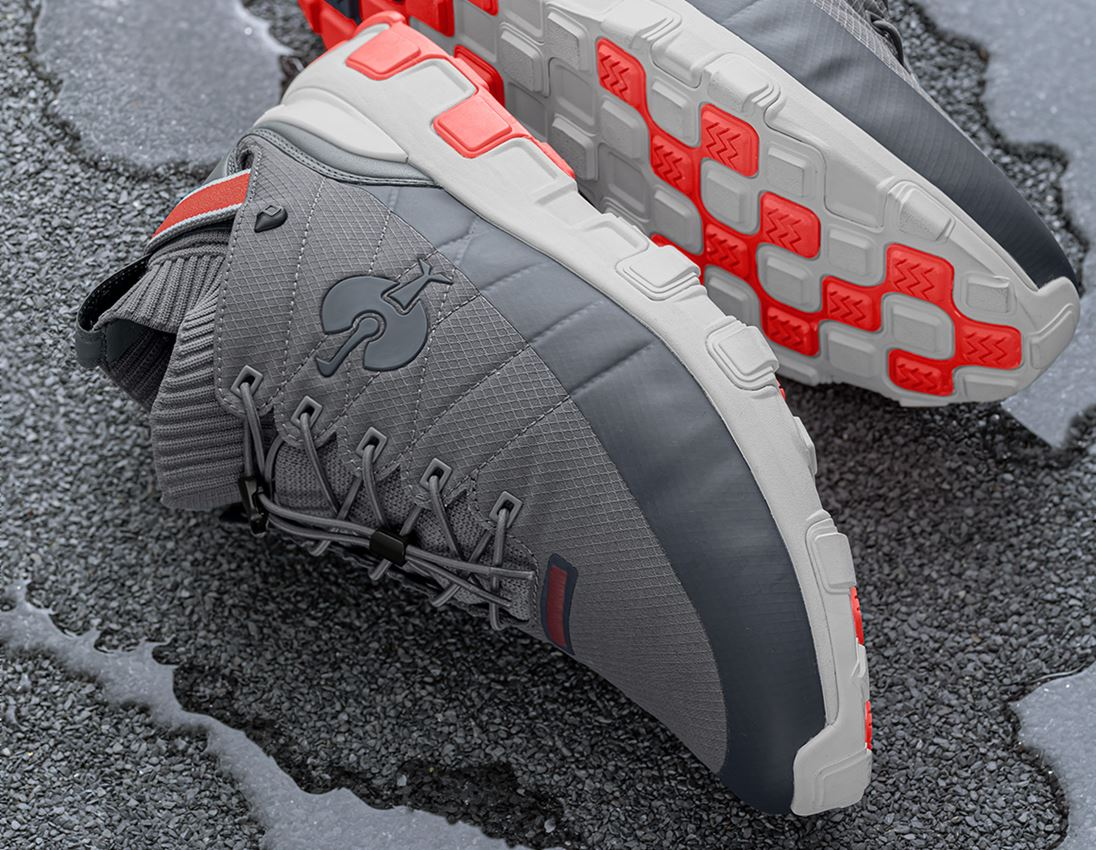 O2: O2 Work shoes e.s. Mikumi + basaltgrey/solarred
