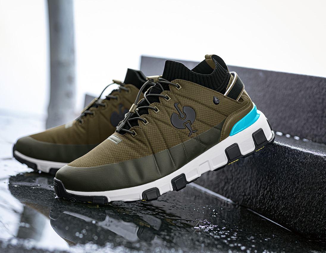 O2: O2 Work shoes e.s. Mikumi + mudgreen/white