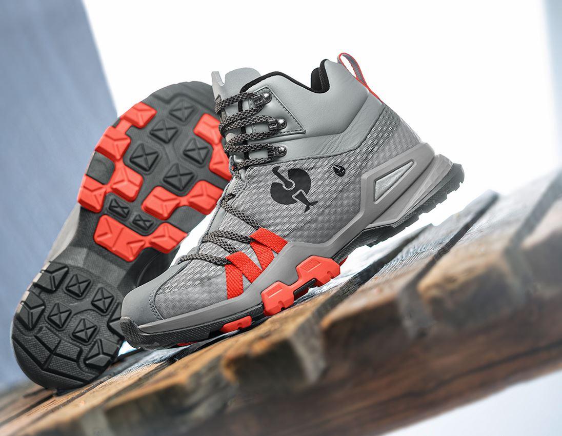 O2: O2 Work shoes e.s. Kobuk mid + pearlgrey/solarred