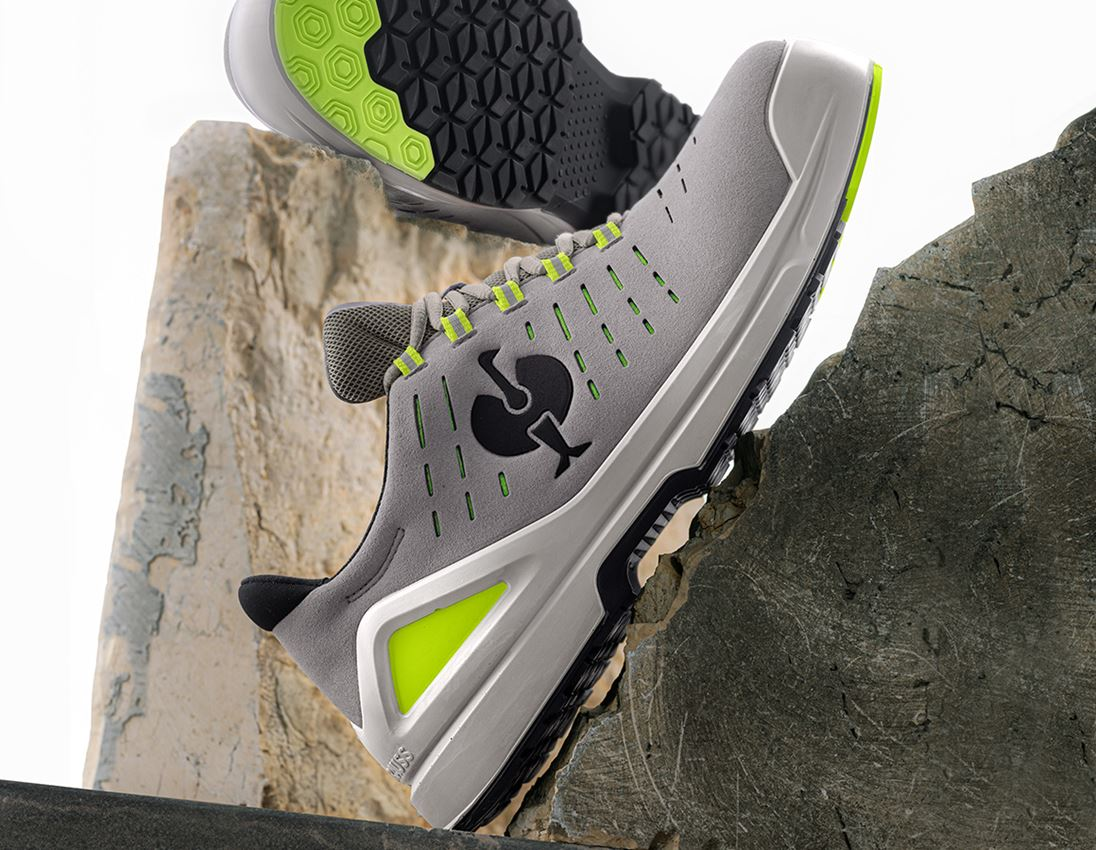 S1: S1 Safety shoes e.s. Zembra + pearlgrey/high-vis yellow