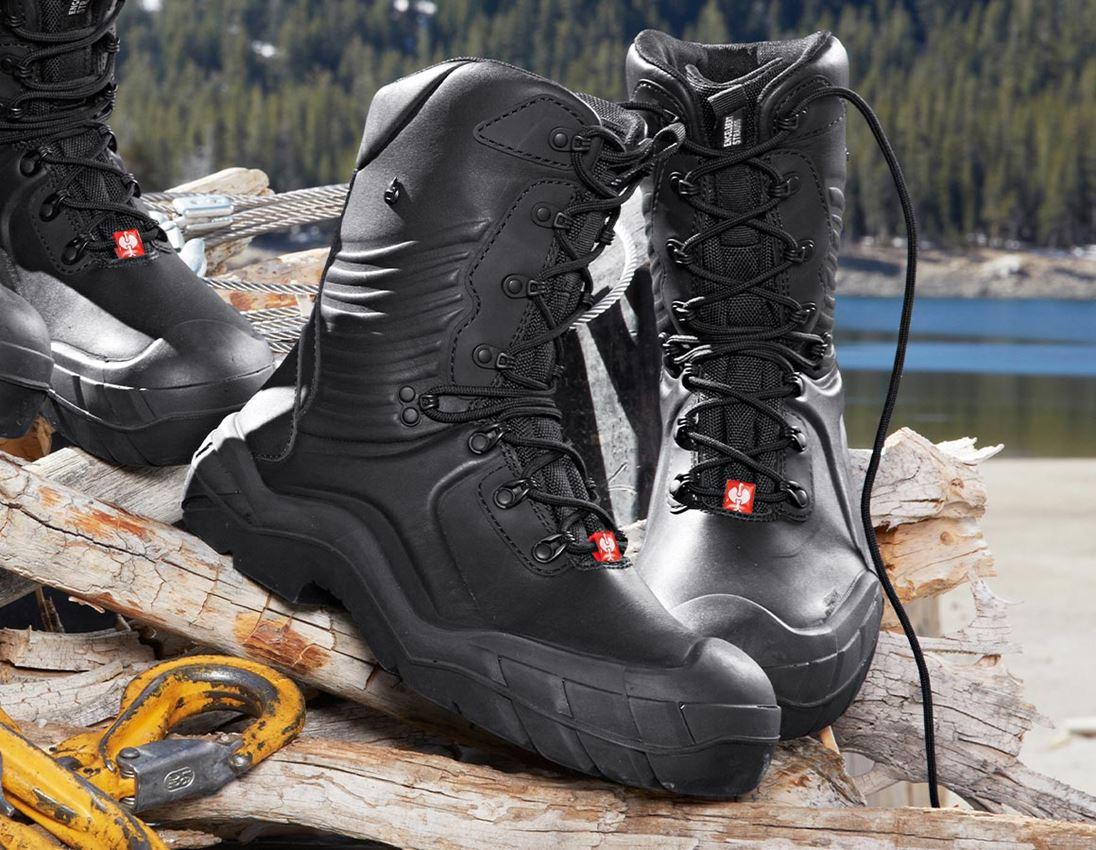 S3: e.s. S3 Safety boots Apodis high + black