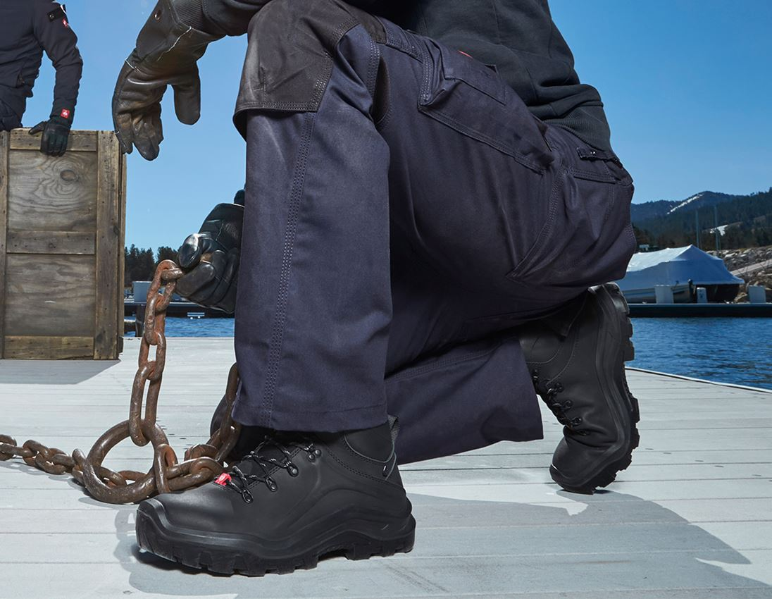 S3: e.s. S3 Safety boots Cebus mid + black 1