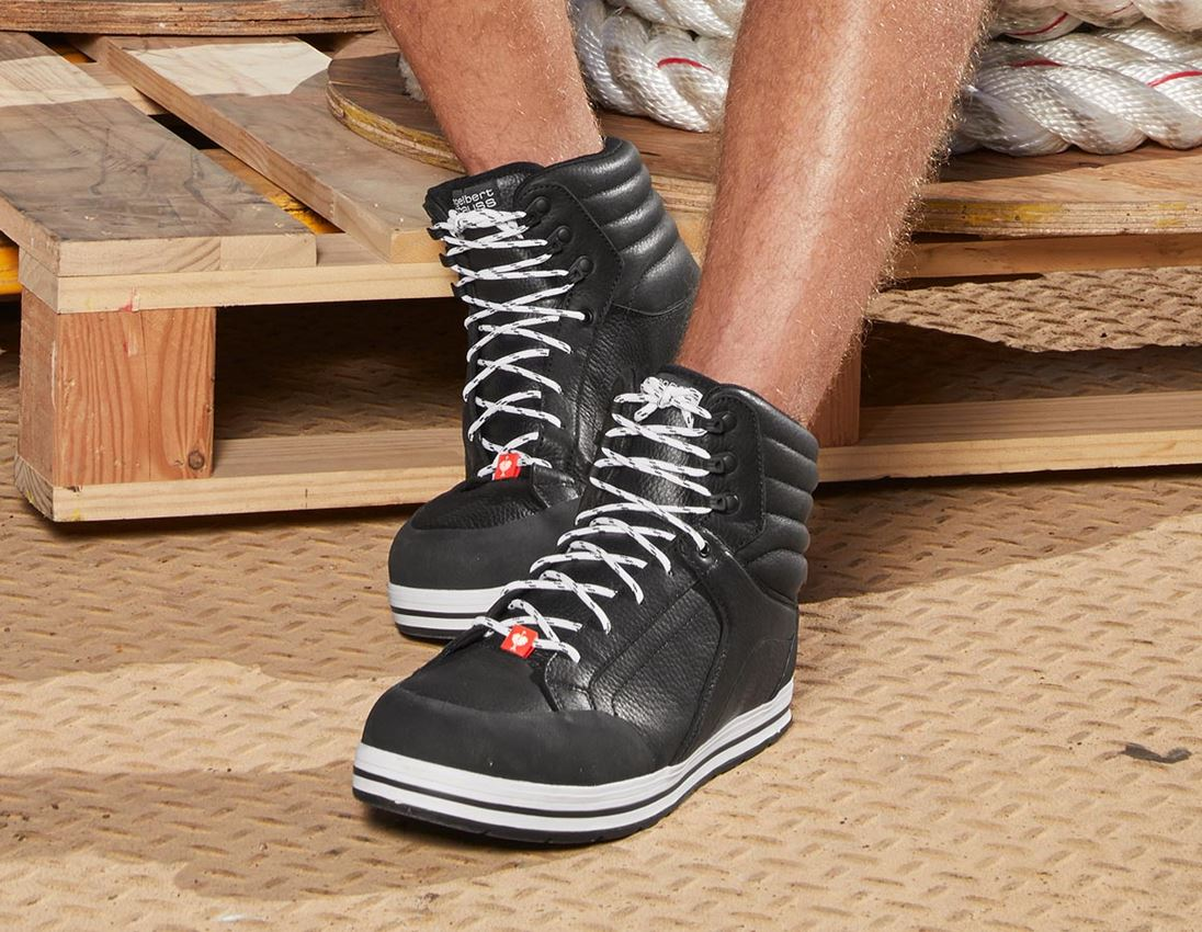 S3: e.s. S3 Safety boots Spes mid + black 6