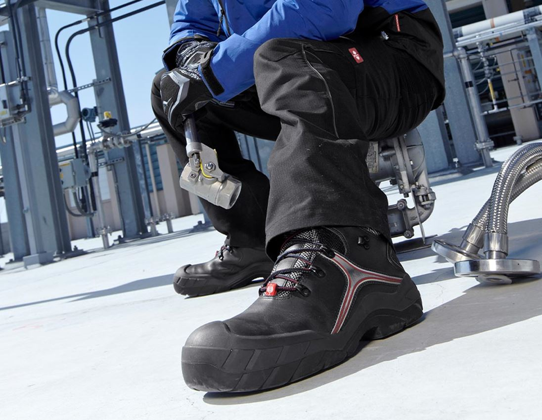 S3: e.s. S3 Safety boots Pollux + black/red 1