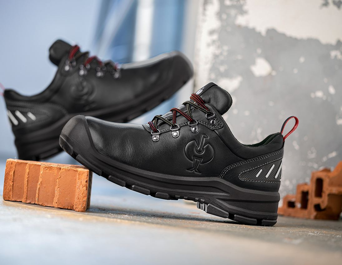 S3: S3 Safety shoes e.s. Umbriel II low + black/straussred
