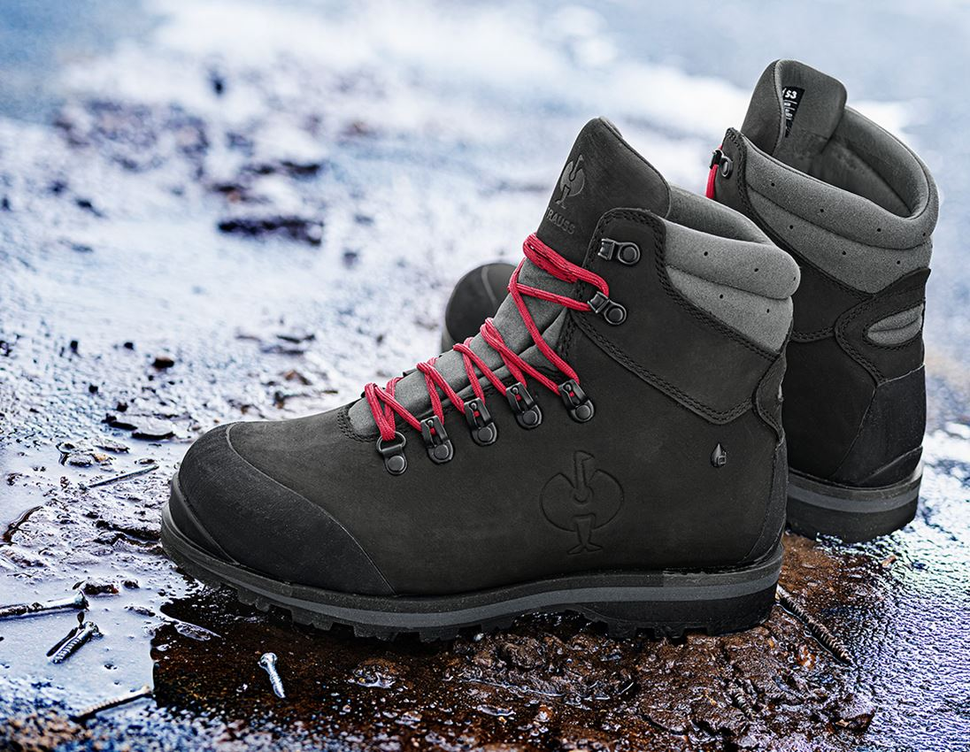 S3: S3 Safety boots e.s. Alrakis II mid + black/titanium/ruby