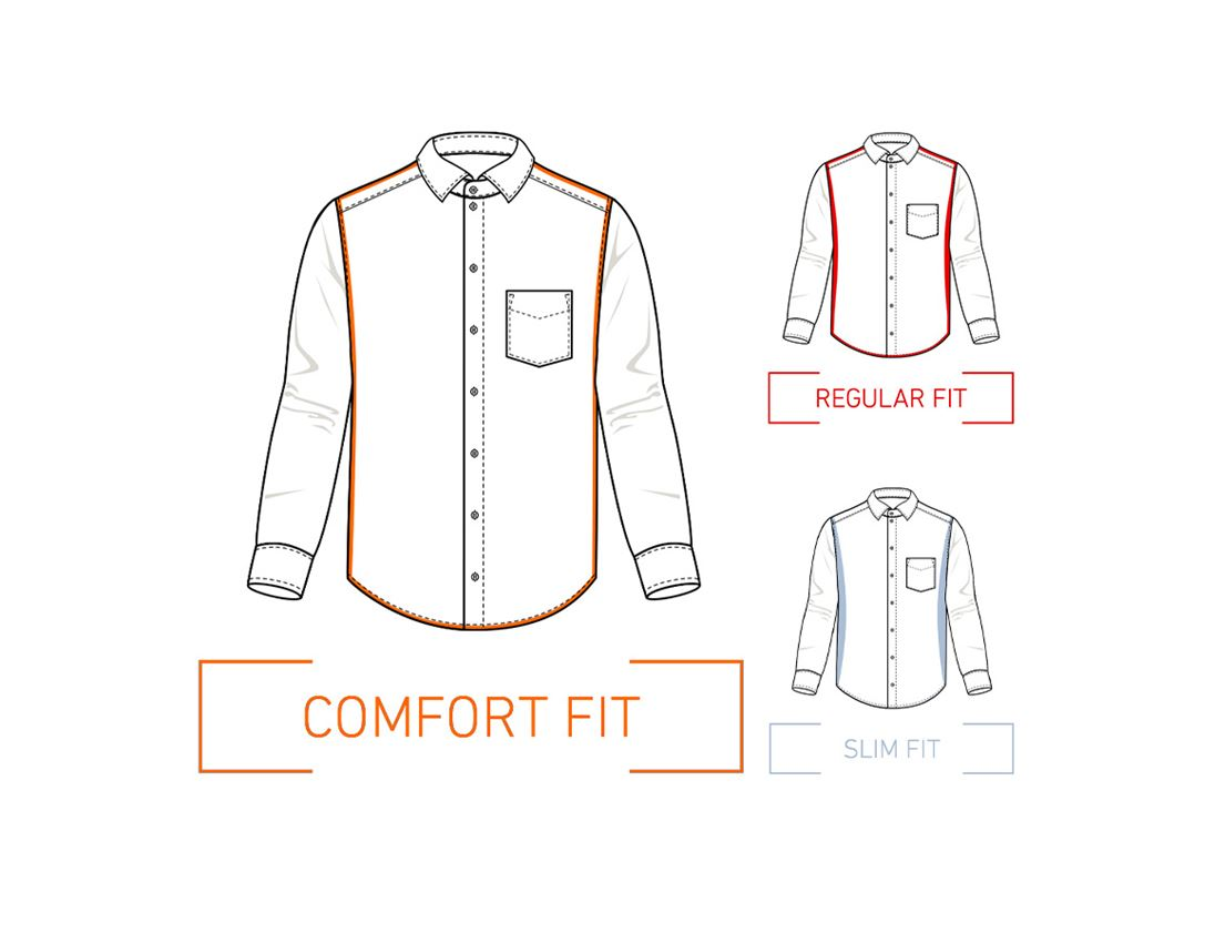 Shirts, Pullover & more: e.s. Business shirt cotton stretch, comfort fit + mistygrey checked 1