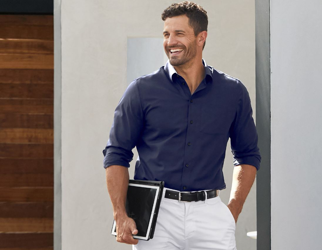 Shirts, Pullover & more: e.s. Business shirt cotton stretch, comfort fit + navy