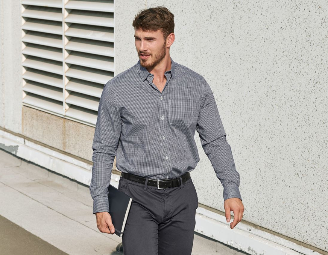 Shirts, Pullover & more: e.s. Business shirt cotton stretch, comfort fit + black checked 2