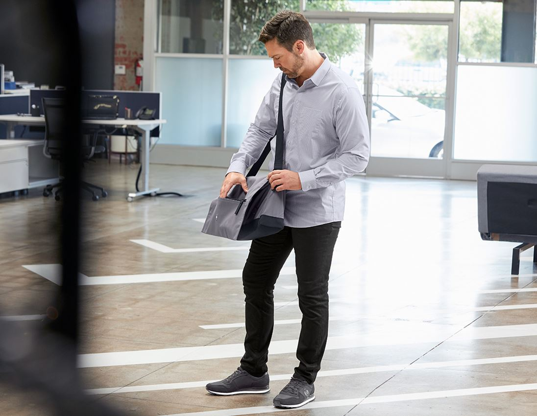 Shirts, Pullover & more: e.s. Business shirt cotton stretch, comfort fit + mistygrey checked 2
