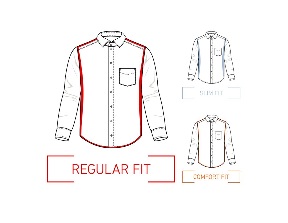 Shirts, Pullover & more: e.s. Business shirt cotton stretch, regular fit + frostblue 1