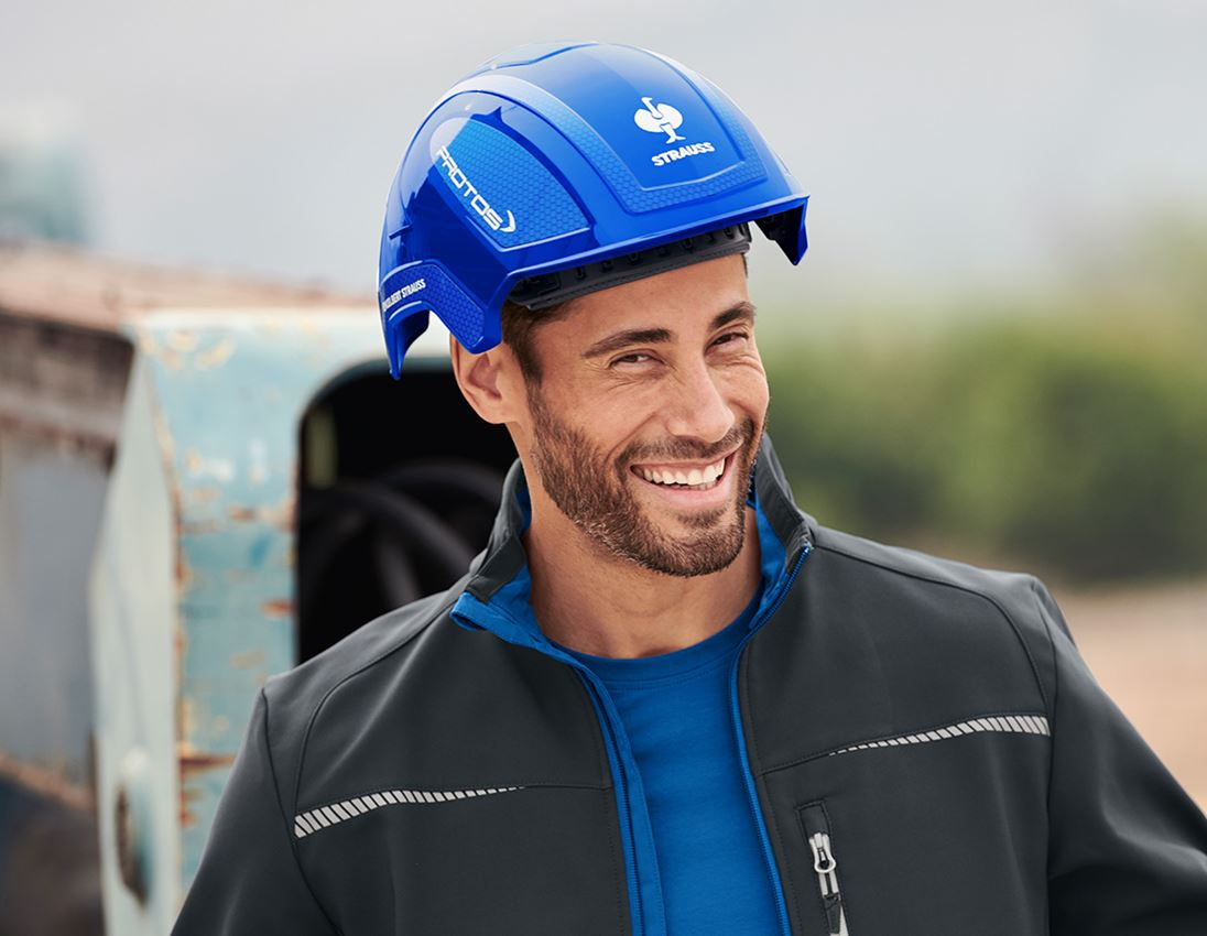 Hard Hats: e.s. Work helmet Protos® + blue/gentian blue