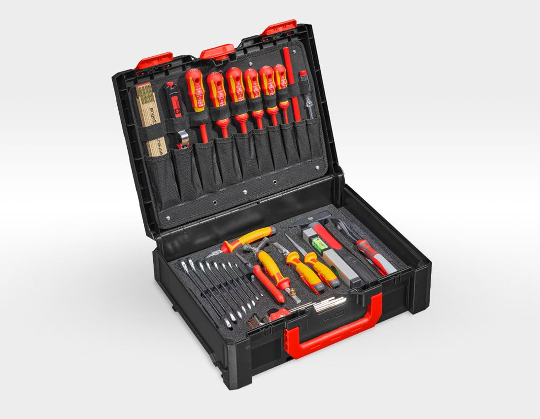 Tool Cases: STRAUSSbox tool set 145 Electro
