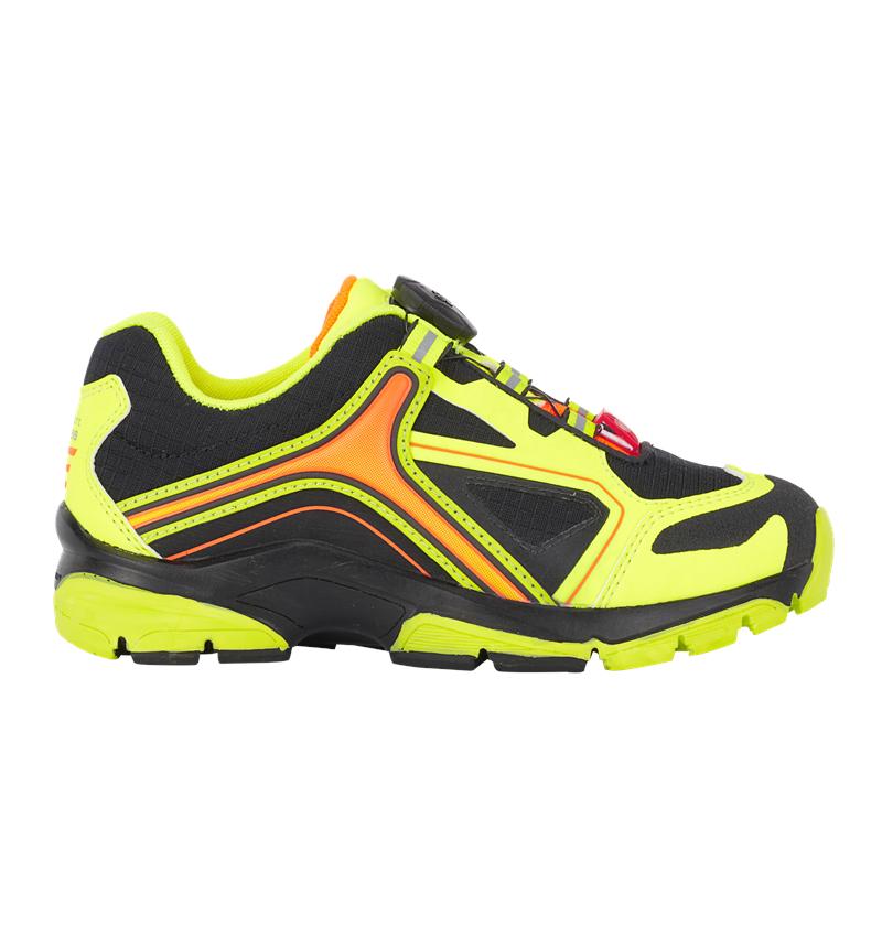 Kids Shoes: e.s. Allround shoes Minkar, children's  + black/high-vis yellow/high-vis orange
