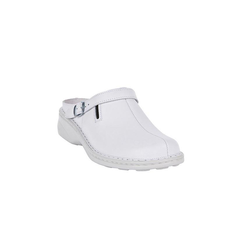 OB: ABEBA OB Ladies' comfort clogs Nicole + white 1