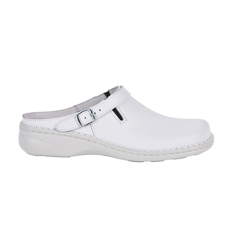 OB: ABEBA OB Ladies' comfort clogs Nicole + white